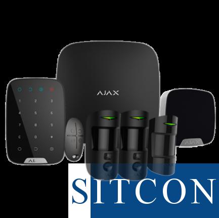 Ajax Draadloos alarmsysteem Hub 2 Deluxe kit Zwart