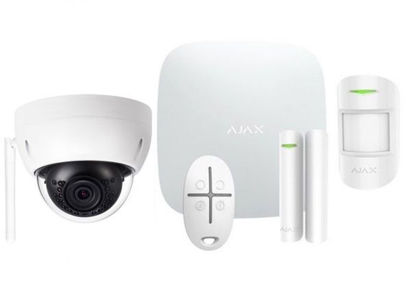 Alarmsysteem Wit ELITE + IP dome camera