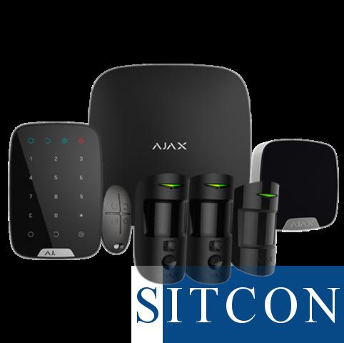 Draadloos alarmsysteem Deluxe met PIR cam Zwart SMART