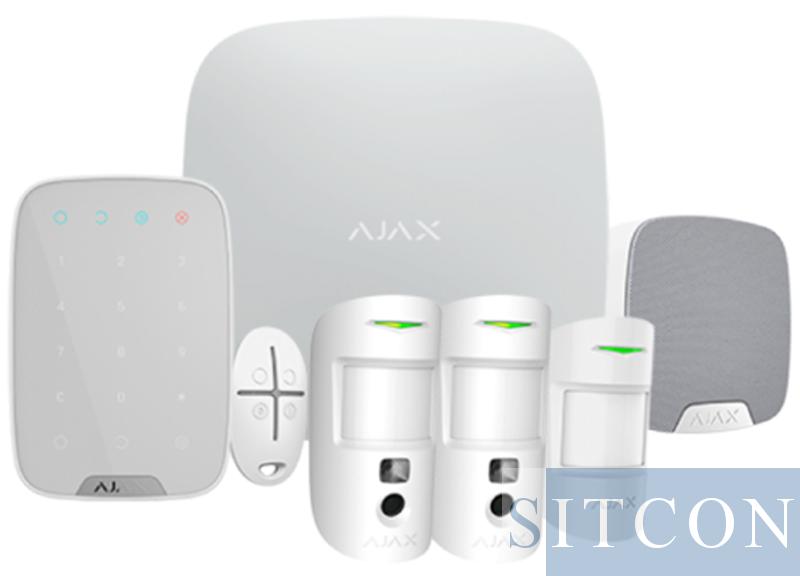Draadloos alarmsysteem Deluxe met PIR cam Wit SMART