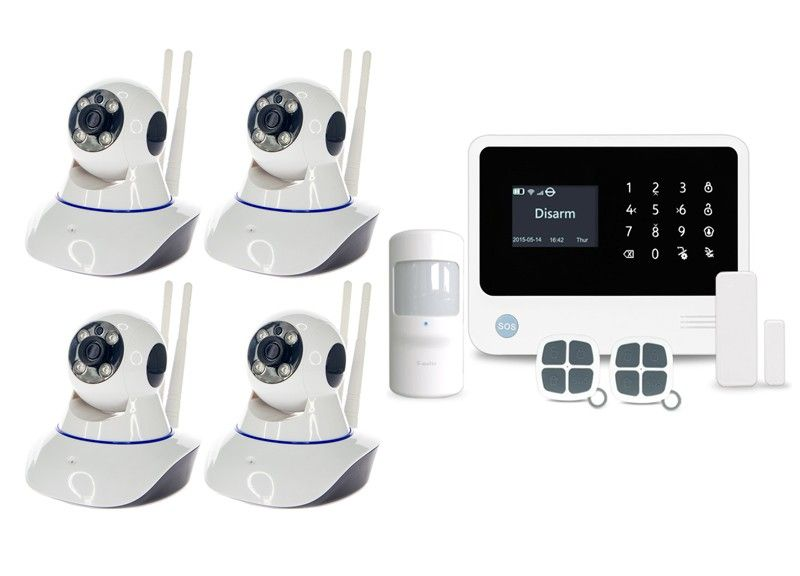 Alarmsysteem PRO + 4 IP PTZ camera's
